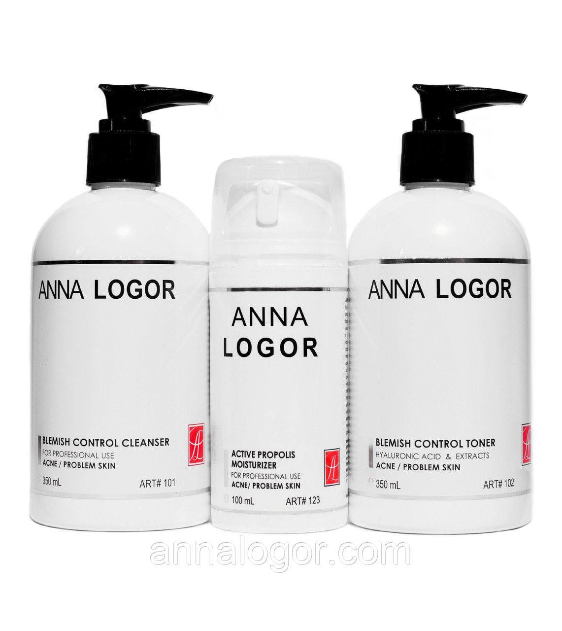 Набор косметики Базовый уход Anna LOGOR для проблемной кожи лица Art.101 123 102
