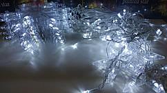 Гирлянда штора 2.5*1м СНЕЖИНКА новогодняя, холодный белый