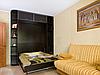 Відкидна шафа-ліжко з полицями і антресоллю для вітальні