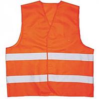 Жилет сигнальный с отражателями нейлоновый XL (оранжевый) Vulkan (SFV10039 XL)