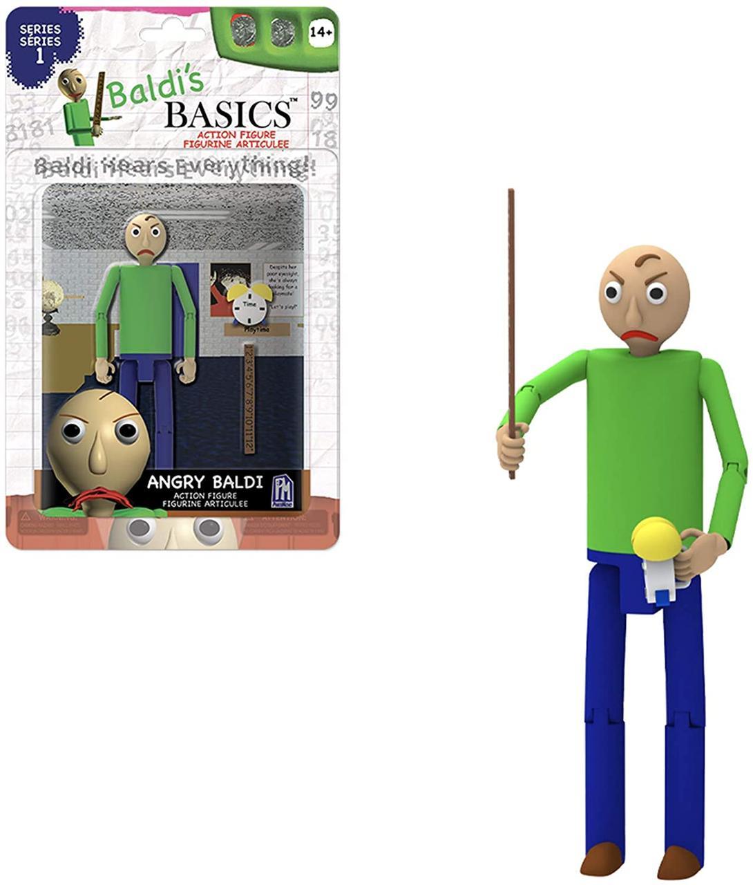 Подвижная фигурка Злой Балди (Angry Baldi) из игры Baldis Basics