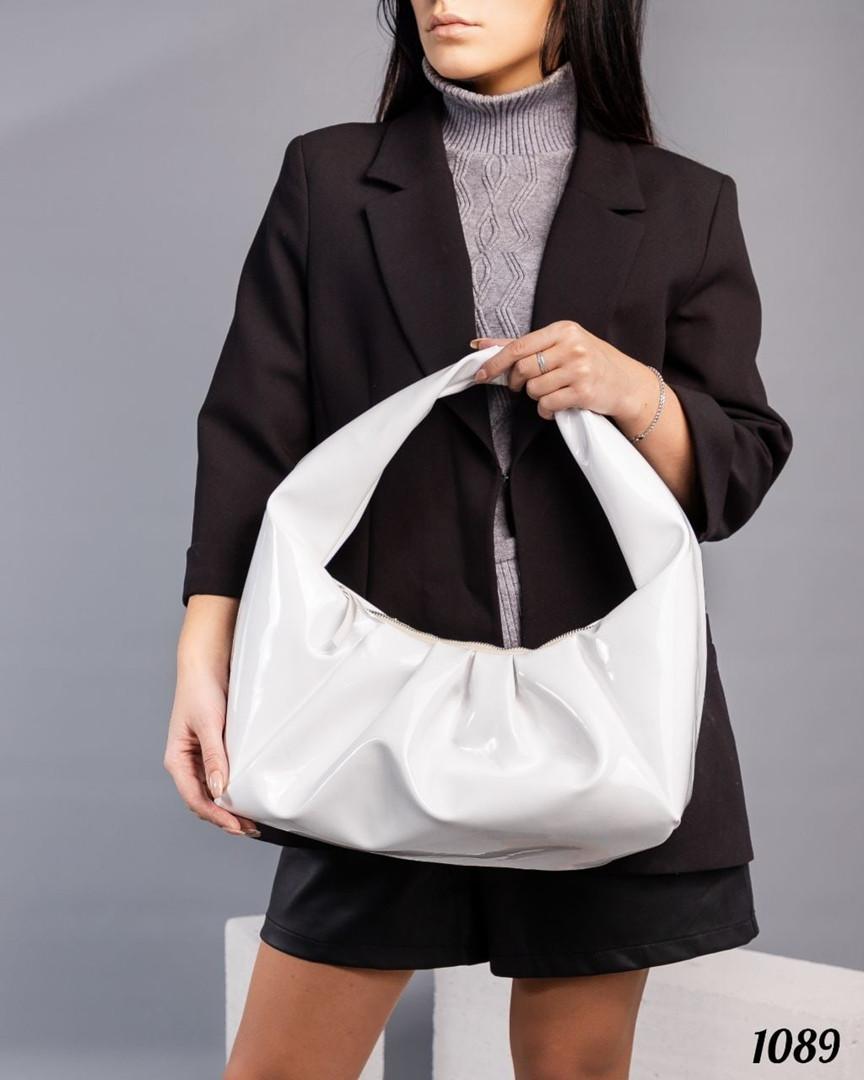Мягкая сумка ХОБО белый