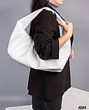 Мягкая сумка ХОБО белый, фото 3