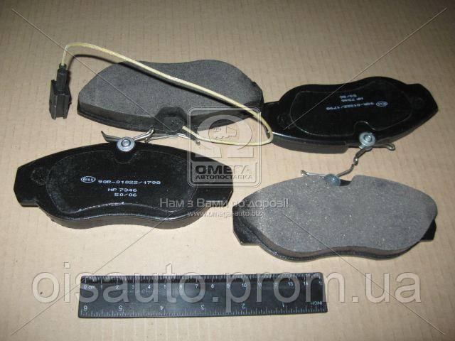 Колодка торм. диск. CITROEN/FIAT/PEUGEOT JUMPER/DUCATO/BOXER передн. (пр-во ABS)