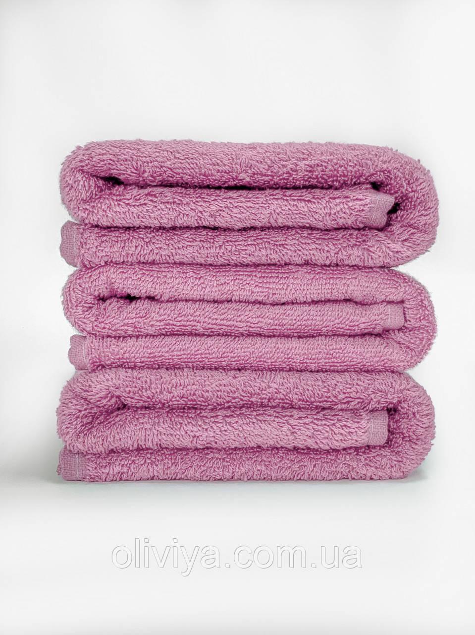 Махровая простынь 100% хлопок розового цвета 155х220