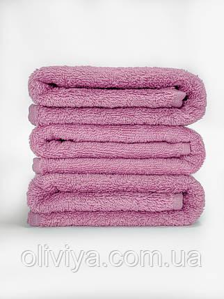 Махровая простынь 100% хлопок розового цвета 155х220, фото 2
