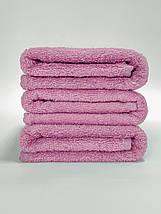 Махровая простынь 100% хлопок розового цвета 155х220, фото 3