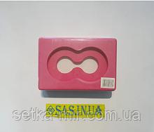 Блок для йоги (кирпич для йоги) с отверстием FI-5163 Розовый