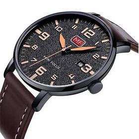 Часы  Мужские Mini Focus (мини фокус) MF0158G.01 Brown-Black Коричневый ремешок