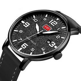 Часы  Мужские Mini Focus (мини фокус) MF0158G.01 All Black, Черный ремешок