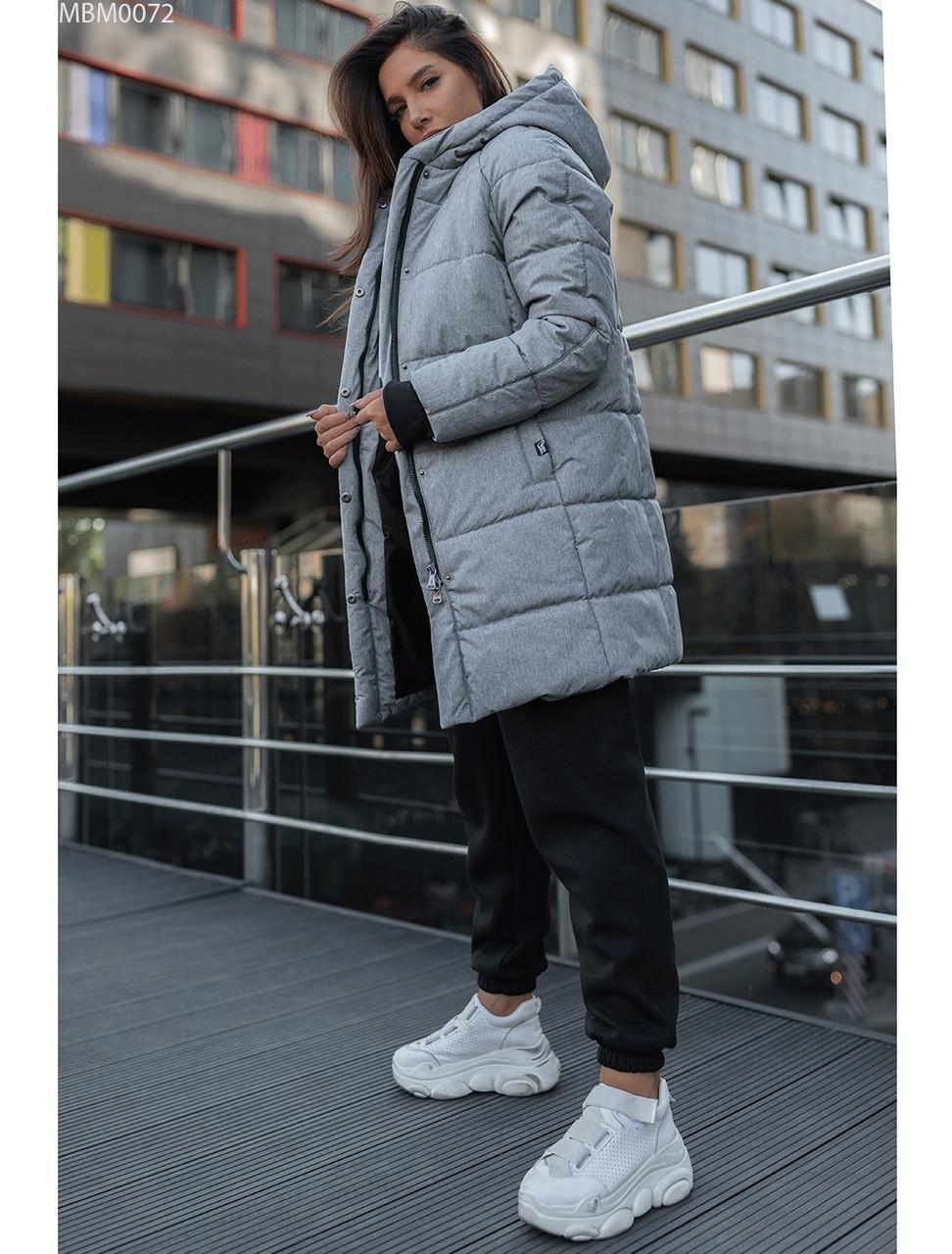 Женская зимняя куртка Staff long gray XS