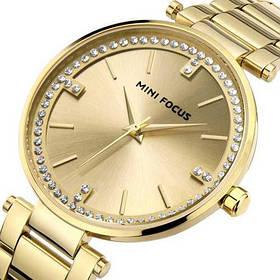 Часы  Женские Mini Focus (мини фокус) MF0031L All Gold, Стальной браслет