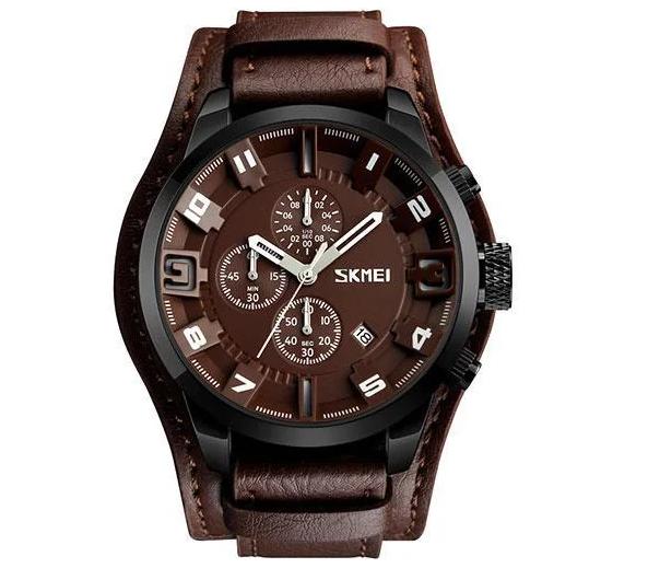 Мужские часы Skmei 9165 Braun -Braun