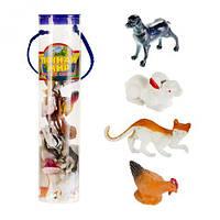 """Игровой набор фигурок """"Домашние животные"""", мягкие игрушки,животные резиновые,игрушка мир животных,игрушки"""