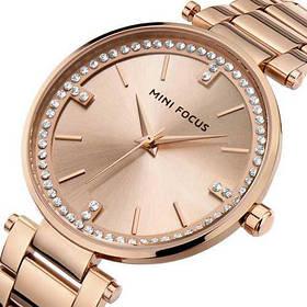 Часы  Женские Mini Focus (мини фокус) MF0031L All Cuprum, Стальной браслет