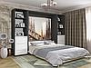Подъемная шкаф-кровать с полками и комодами