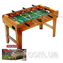 Детский деревянный настольный футбол 80-42-50 см, игроки, счетчик голов, 2 мяча ZC1017B