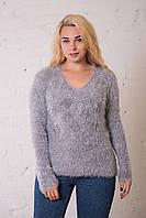 Женская кофта травка серого цвета. Размер универсальный (до 50 размера) ОПТ - РОЗНИЦА