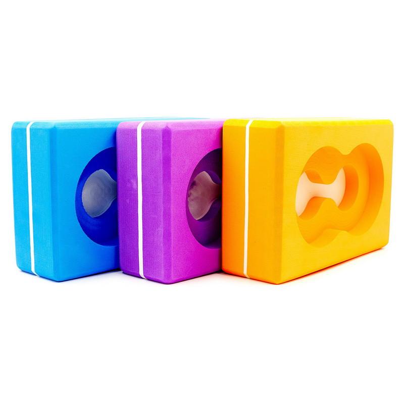Блок для йоги (кирпич для йоги) с отверстием FI-5163