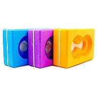 Блок для йоги (цегла для йоги) з отвором FI-5163