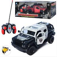 Поліцейський автомобіль на радіокеруванні, на батарейках в коробці