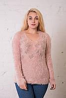 Женская кофта травка цвета пудра. Размер универсальный (до 50 размера) ОПТ - РОЗНИЦА