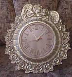 Часы резные Ангелы с розами, фото 4