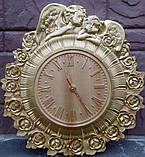Часы резные Ангелы с розами, фото 5