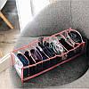 Прозрачный органайзер на 10 ячеек S (розовый), фото 2