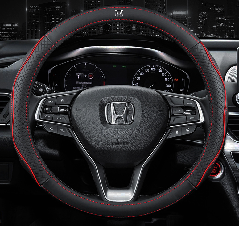 Чехол оплетка Circle Cool на руль для автомобиля Honda c логотипом