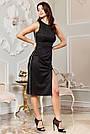 Вечірнє чорне плаття з люрексом з розрізом збоку, фото 4