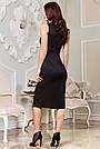 Вечірнє чорне плаття з люрексом з розрізом збоку, фото 6
