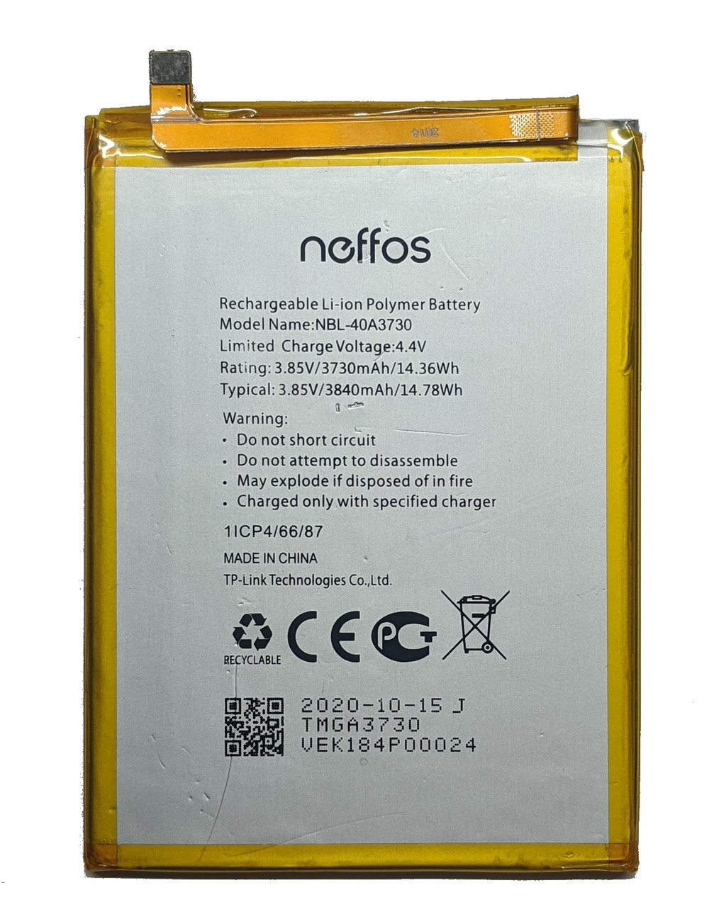 Аккумулятор TP-Link Neffos C9 TP707A NBL-40A3730