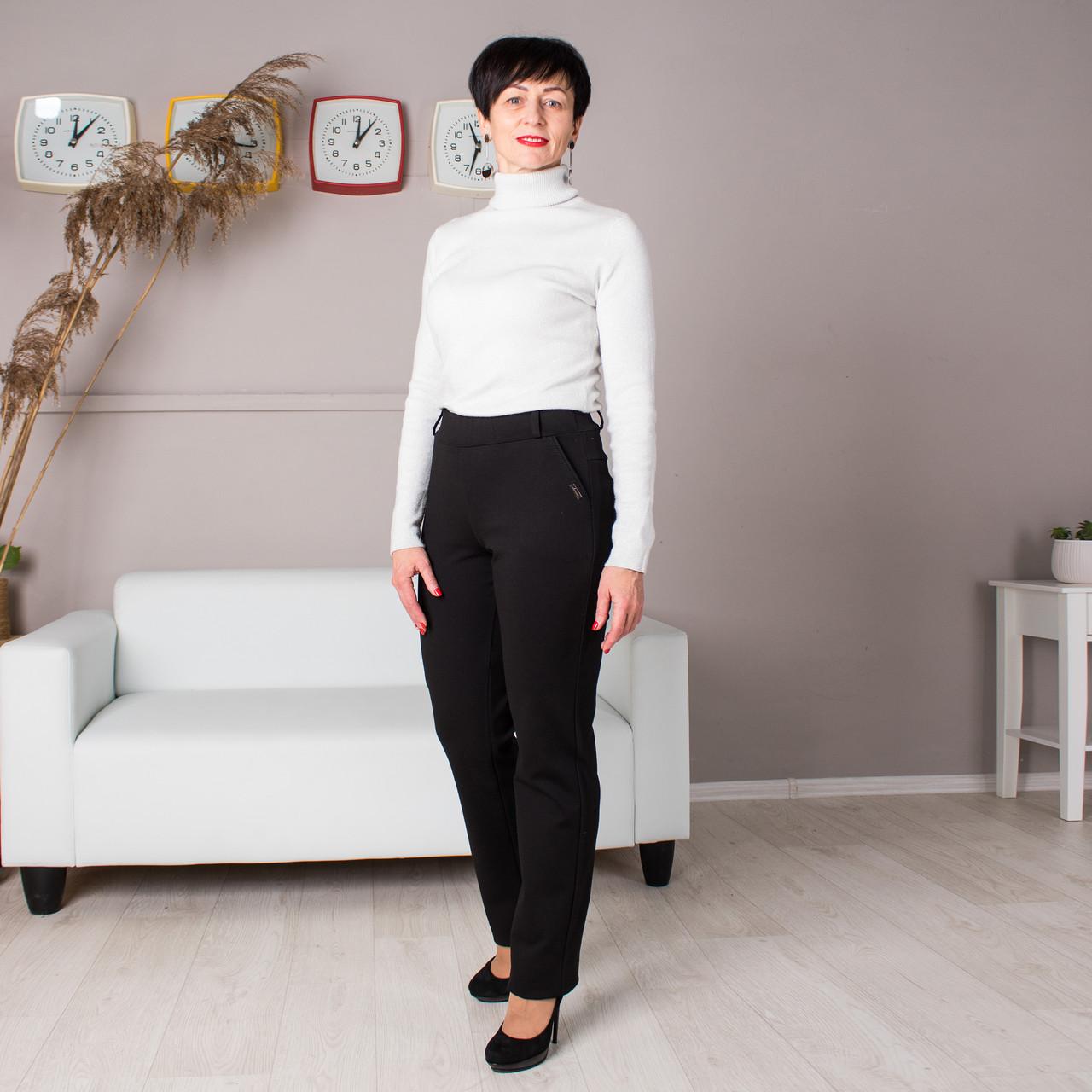 Женские утепленные брюки Френсис черная