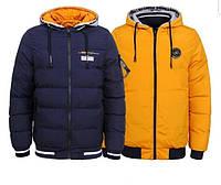 Мужская двухсторонняя зимняя куртка Glo-story, Венгрия (8508 Синий с желтым)