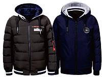 Мужская двухсторонняя зимняя куртка Glo-story, Венгрия (8508 Хаки с синим)