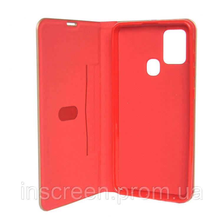 Чохол-книжка Florence TOP 2 Samsung A217F A21s (2020) під шкіру червоний, фото 2
