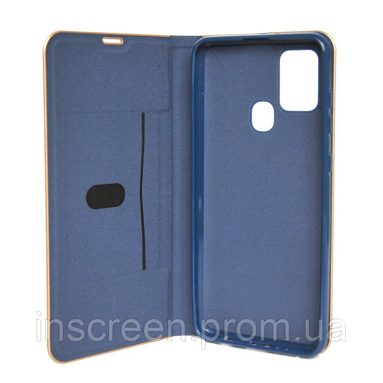 Чохол-книжка Florence TOP 2 Samsung A217F A21s (2020) під шкіру синій, фото 2