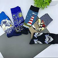 Набор носков с оригинальными принтами Картины