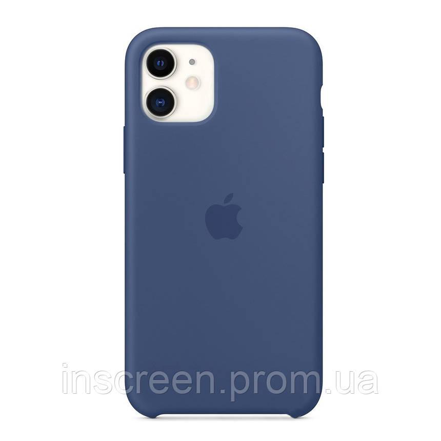 Чохол силіконовий Silicone Case для Apple iPhone 12 Mini Alaskan Blue, фото 2