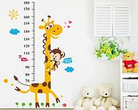 """Интерьерная наклейка на стену в детскую """"Ростомер жираф"""""""