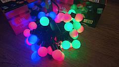 Гирлянда новогодняя светодиодная Шарик большой, 40 LED лампочек, мультиколор