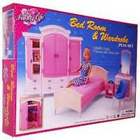 Детская мебель для кукол (Барби) Gloria - Спальня со шкафом