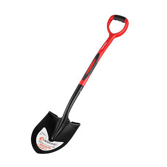 Лопата штыковая, ручка из фибергласса, 217х290х1050 мм INTERTOOL FT-2013
