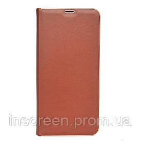 Чехол-книжка Florence TOP 2 Samsung A015F A01 (2020) под кожу коричневый