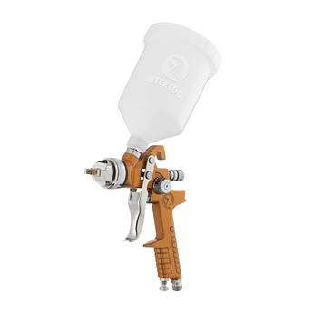 Краскопульт пневматический HVLP, верхний пластиковый бачок INTERTOOL PT-0110