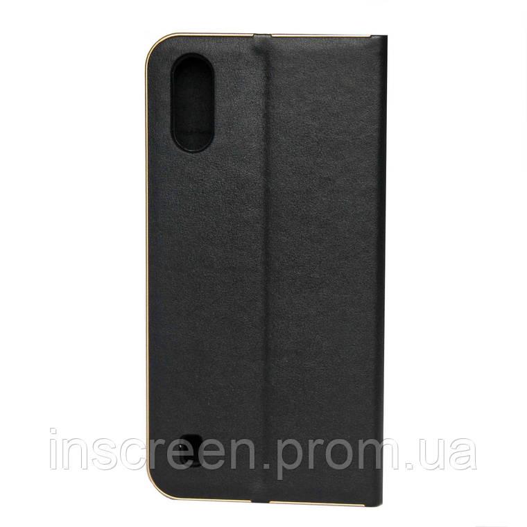 Чохол-книжка Florence TOP 2 Samsung A015F A01 (2020) під шкіру чорний, фото 2