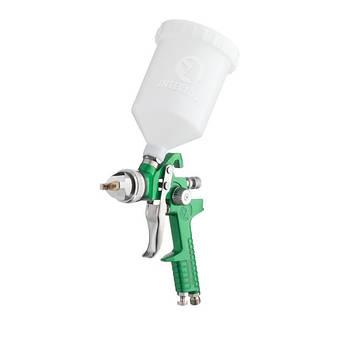 Краскопульт пневматический HVLP, форсунка 1.3мм, верхний пластиковый бачок 600мл, 3бар INTERTOOL PT-0117