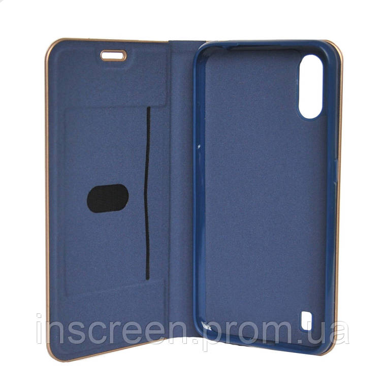 Чехол-книжка Florence TOP 2 Samsung A015F A01 (2020) синий, фото 2