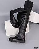 Высокие женские ботфорты черные, фото 2
